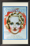 Marlene Dietrich - Screenland Magazine Cover 1930's Prints