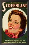 Hepburn, Katharine - Screenland Magazine Cover 1930's Poster
