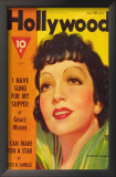 Claudette Colbert - Hollywood Magazine Cover 1940's Posters