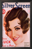 Claudette Colbert - Silver Screen Magazine Cover 1930's Art