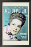 Maureen O&#39;Hara - Motion Picture Magazine Cover 1940&#39;s Print