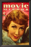 Claudette Colbert - Movie Mirror Magazine Cover 1930's Prints