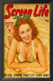Joan Blondell - Screen Life Magazine Cover 1930's Print