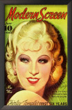 Mae West - Modern Screen Magazine Cover 1930's Art