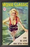 Jean Harlow - Movie Classic Magazine Cover 1930's Poster