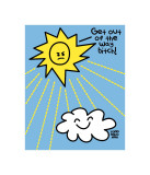 Get Out Of Way Sun Print van Todd Goldman