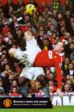 Manchester United - Rooney Torschuss Kunstdrucke