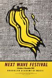 Next Wave Festival Poster von Roy Lichtenstein