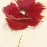 Red Poppy Power III Poster by Marilyn Robertson