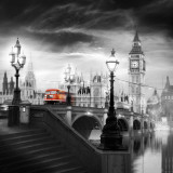 London Bus III Poster van Jurek Nems