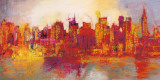 Abstract New York City Poster af Brian Carter