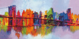 Manhattan abstrait, triptyque Affiches par Brian Carter