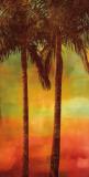Sunset Palms II Plakat af John Seba