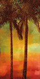 Sunset Palms II Wall Art by John Seba