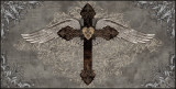 Cross with Wings Plakater af Brandon Glover