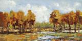 Copper Landscape Print by Carmen Dolce