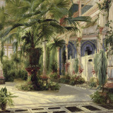 Interior of the Palm House at Potsdam I Poster von Karl Blechen