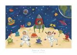 Space Fun Prints by Sophie Harding