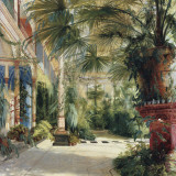 Interior of the Palm House at Potsdam II Kunst von Karl Blechen