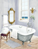 Coastal Bath I Prints by Jocelyn Haybittel