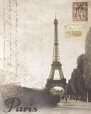Paris Travelogue Poster von Ben James