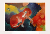The Red Dog Print by Franz Marc
