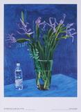 Iris with Evian bottle Reproductions pour les collectionneurs par David Hockney