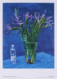Iris with Evian bottle Collectable Print by David Hockney