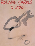 Roland Garros Posters by Antoni Tapies