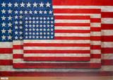 Drei Flaggen Poster von Jasper Johns