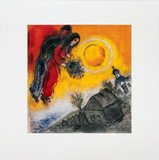 Le Couple Au Ciel Jaune Collectable Print by Marc Chagall
