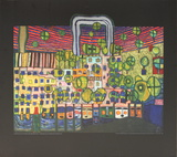 House in Vienna Collectable Print by Friedensreich Hundertwasser