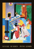 The Piano lesson Prints by Romare Bearden