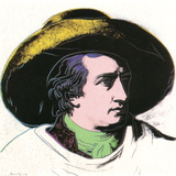 Goethe Black and Yellow (Lg) Collectable Print by Andy Warhol