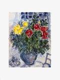 Vase De Fleurs Prints by Marc Chagall