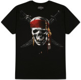 Pirates of the Carribean  - Chrome Skully T-Shirts