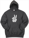 Hoodie: Give Peace a Chance Fingers Mikina s kapucí
