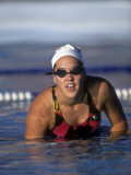Portrait of Female Swimmer Photographic Print