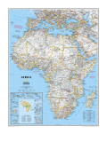 Politisk kort over Afrika Plakater af  National Geographic Maps