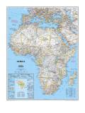 Politisk karta över Afrika, engelska Affischer av  National Geographic Maps