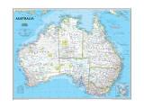 Politische Landkarte von Australien Poster von  National Geographic Maps