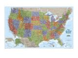 Mapa de explorador de Estados Unidos Posters
