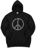 Hoodie: Broken Peace Pullover Hoodie