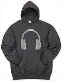Hoodie: Headphones out of Different Music Genre's Pullover Hoodie