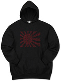 Hoodie: Banzai Flag out of Japanese National Anthem Pullover Hoodie