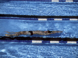 Male Swimmer Under Water Photographic Print