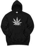 Hoodie: Marijuana Leaf Pullover Hoodie