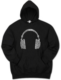 Hoodie: Headphones out of Different Music Genre's T-Shirt