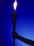 Ceremonial Olympic Style Torch Photographic Print