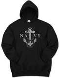 Hoodie: Navy Anchors Aweigh Pullover Hoodie